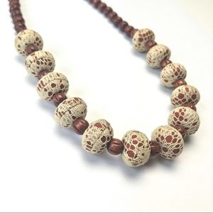 Jewelry - 💖 Boho Beaded Lace Necklace